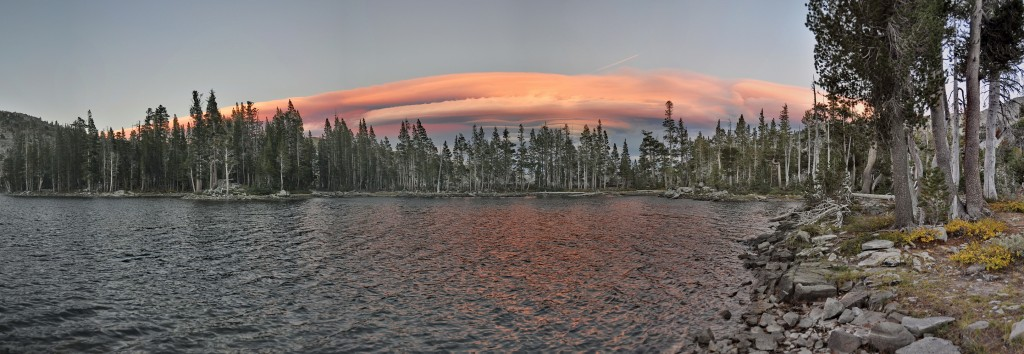 Lake Tamarack im Sonnenuntergang