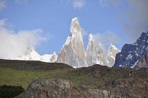 Der Cerro Torre strahlt in der Sonne