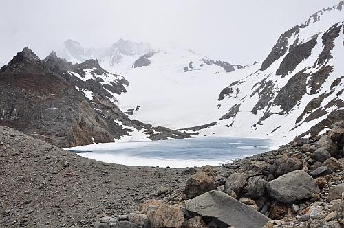 Der erste Blick auf die Laguna de los Tres - atemberaubend