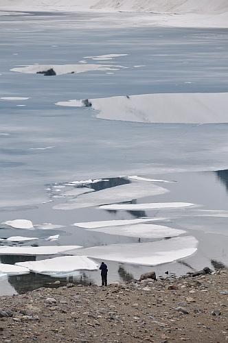 Zugefrorene Laguna de los Tres