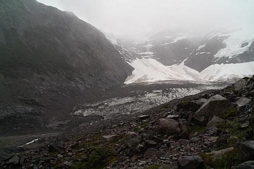 Glaciar del Francés - wir kehren um