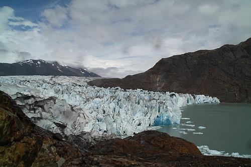 Der vordere Teil des Viedma-Gletschers