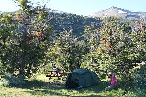 Unser Zelt im Campamento Las  Torres