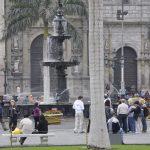 Springbrunnen am Plaza San Martín