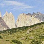 Die Torres del Paine im Sonnenschein