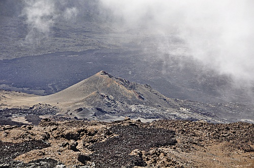 Kraterlandschaft am Piton de la Fournaise