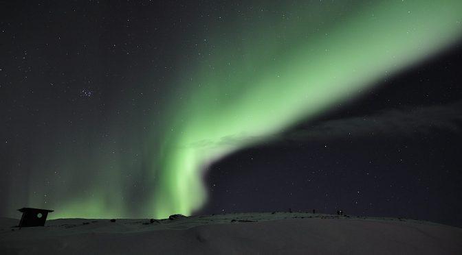 Nordlicht über dem Nuolja