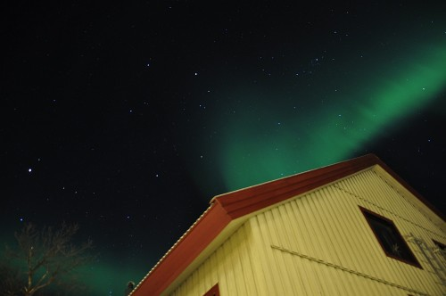 Nordlicht über Abisko - der erste Versuch