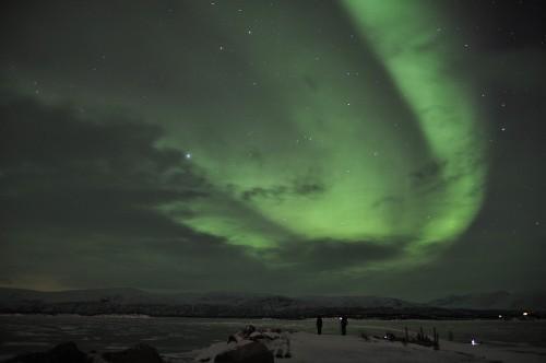 Nordlicht über dem Torneträsk