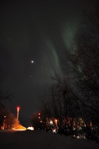 Nordlicht auf dem Heimweg