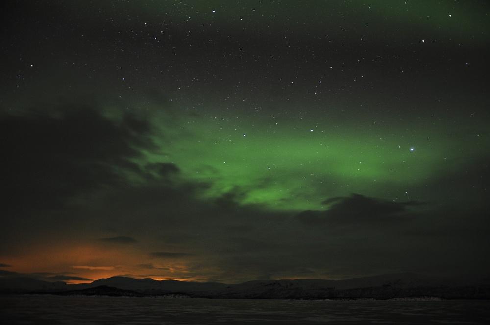 Nordlicht grün und rot