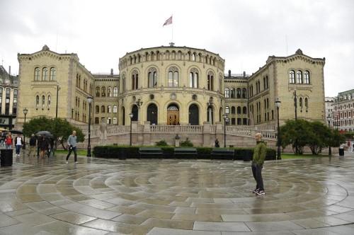 Stortinget - das Parlamentsgebäude