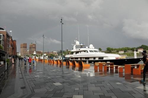 Regenbogen über Oslo