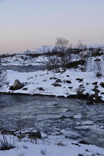 Fjordarme bei einsetzender Flut