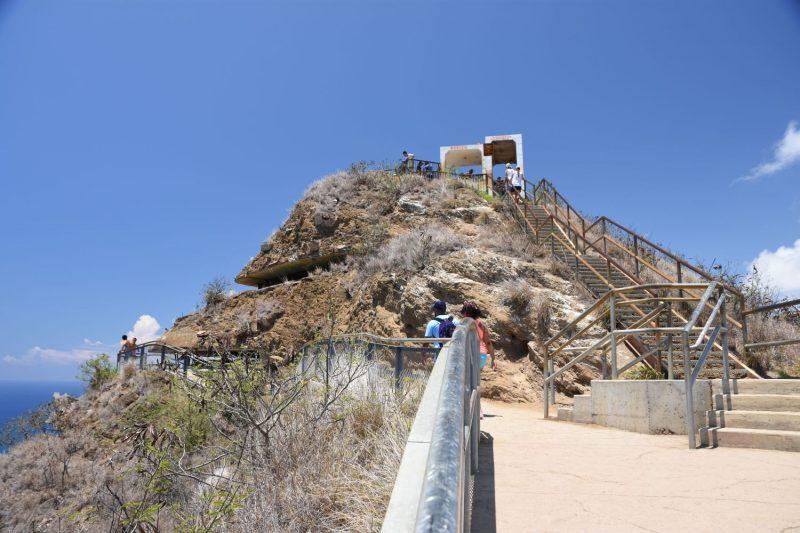 Die Aussichtsplattform - alte Festungsanlagen