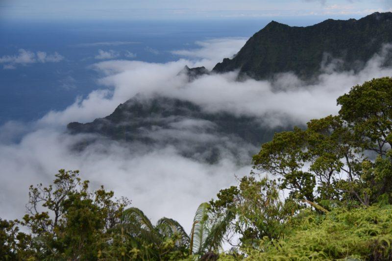 Ausblick in Richtung Na Pali Coast