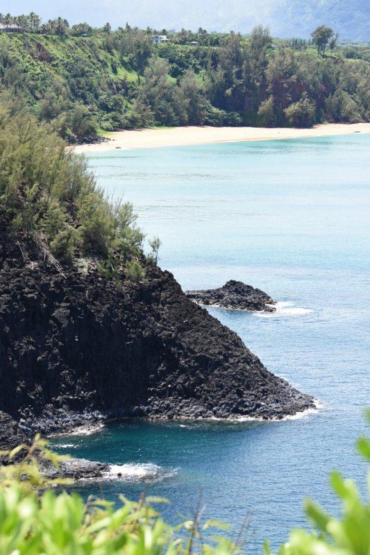 Die Ostküste bei Kilauea - nach Norden geschaut