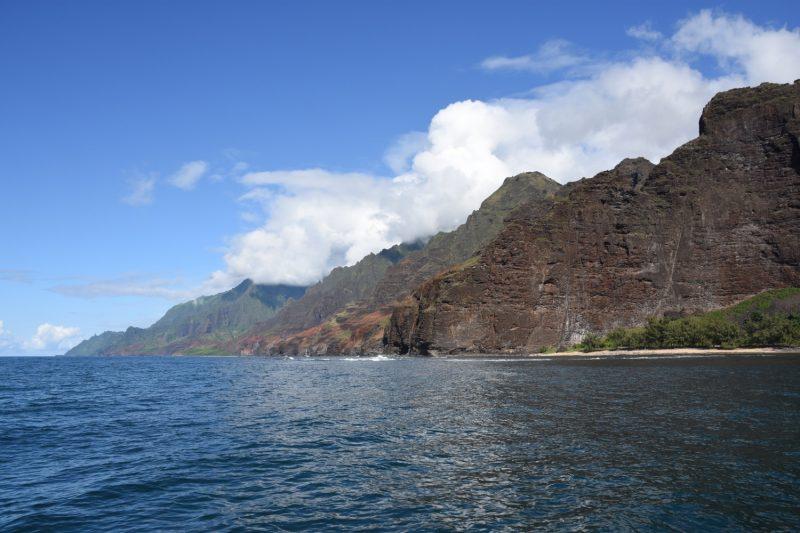 Der erste Blick in Richtung Na Pali Coast