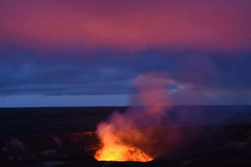 Kilauea nach Sonnenuntergang
