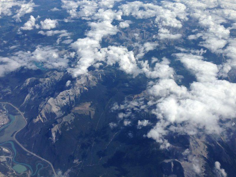 Die Rockies von oben