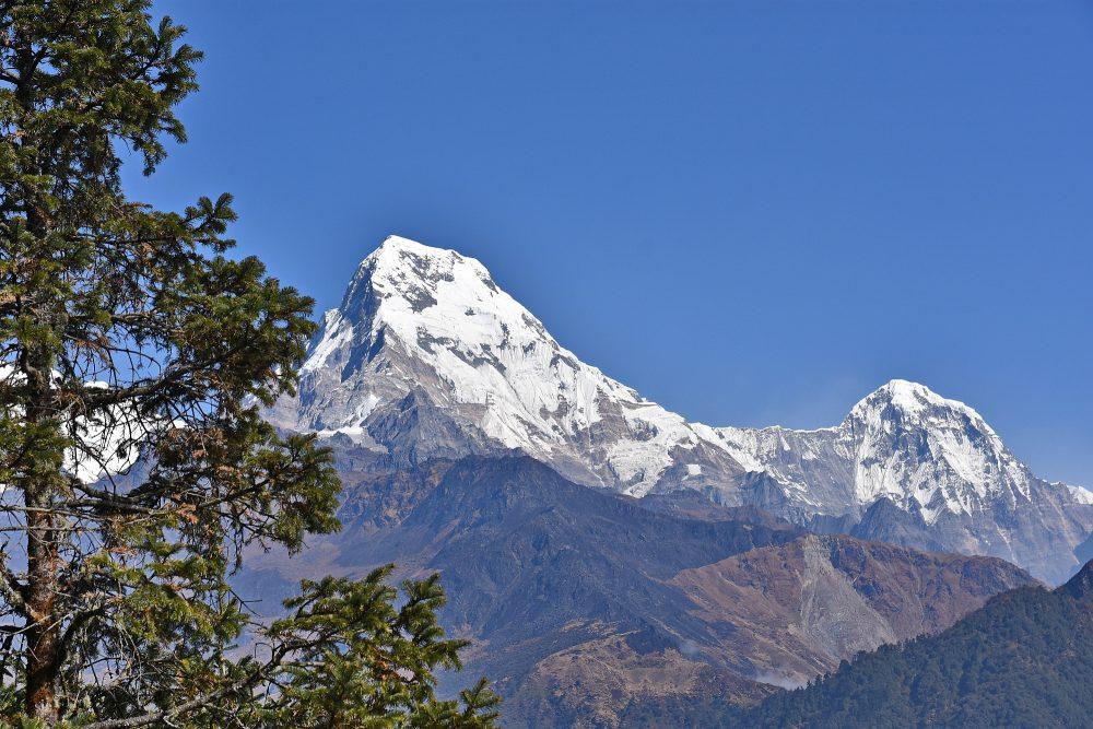 Ein letzter Blick zurück auf die Annapurna South