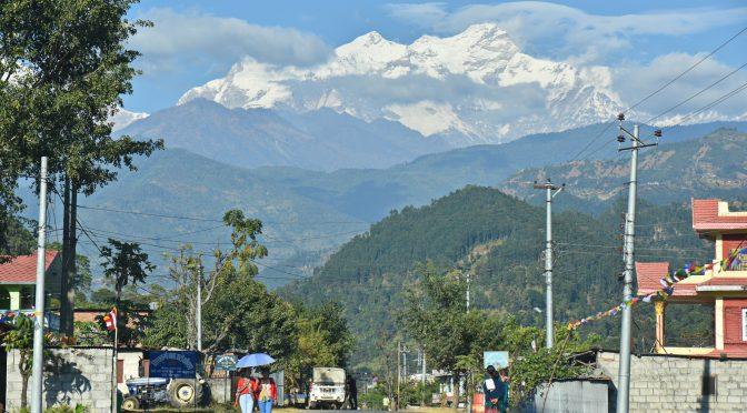 Blick auf Mt. Manaslu