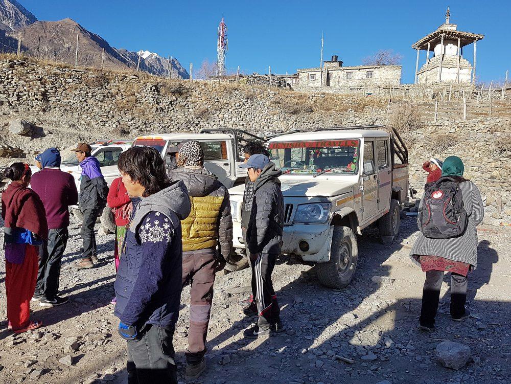 Am Jeep-Sammelplatz