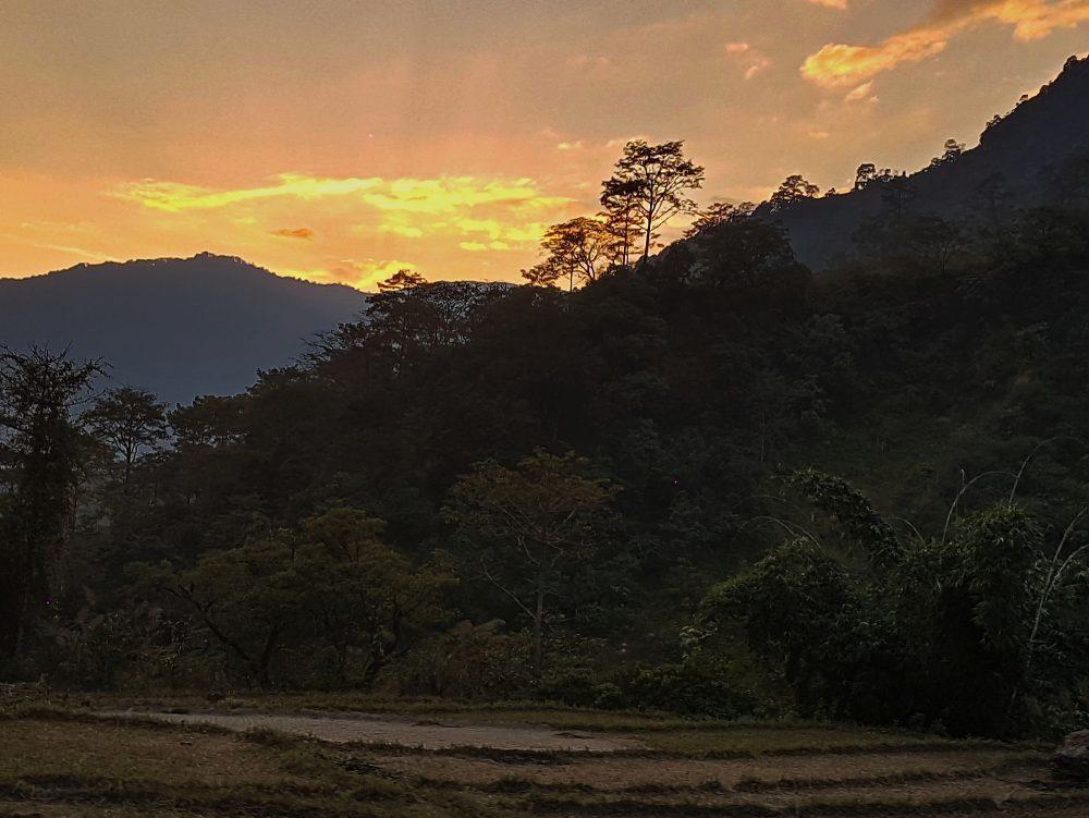 Sonnenuntergang bei Bhulbule
