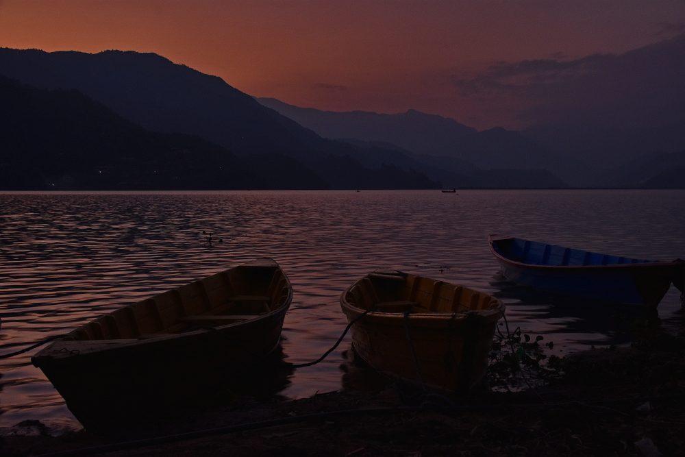 Sonnenuntergang am Fewa-See
