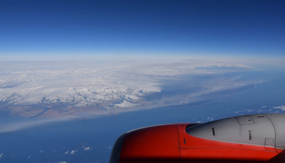 Anflug auf Island
