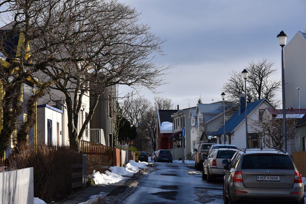 Kleine Straßen in Reykjavik