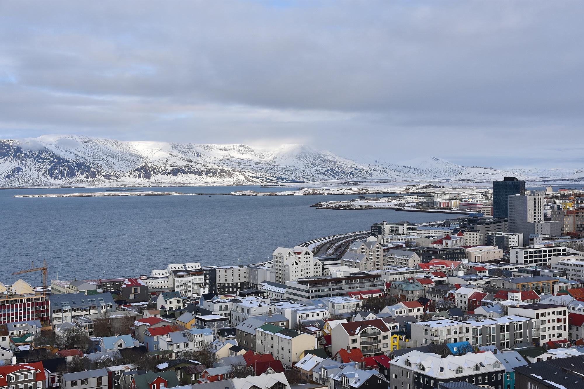 Reykjavik von oben