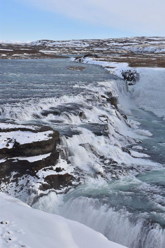 Die obere Wasserfall-Stufe