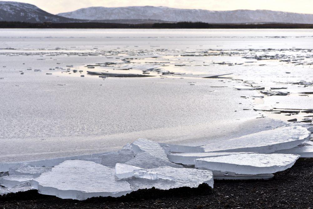Eisschollen am Laugarvatn