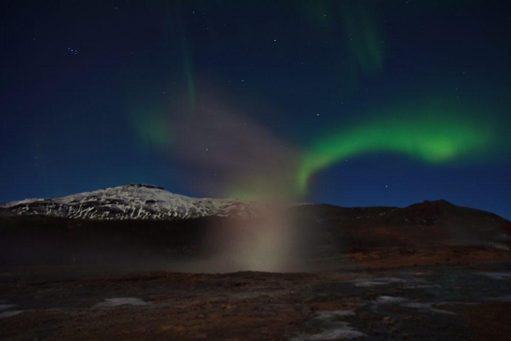 Nordlichter am Geysir