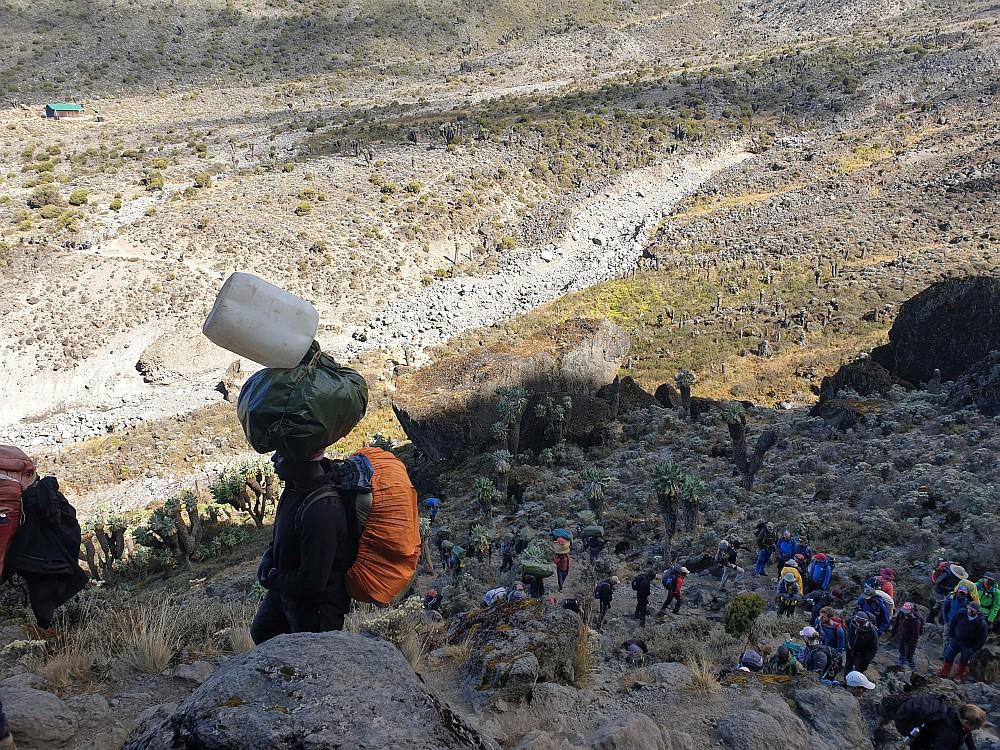 Blick zurück zum jetzt leeren Barranco Camp
