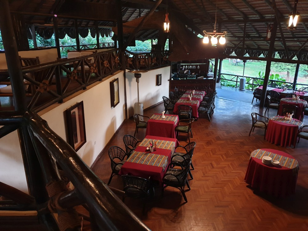 Restaurant der Aishi Machame Lodge