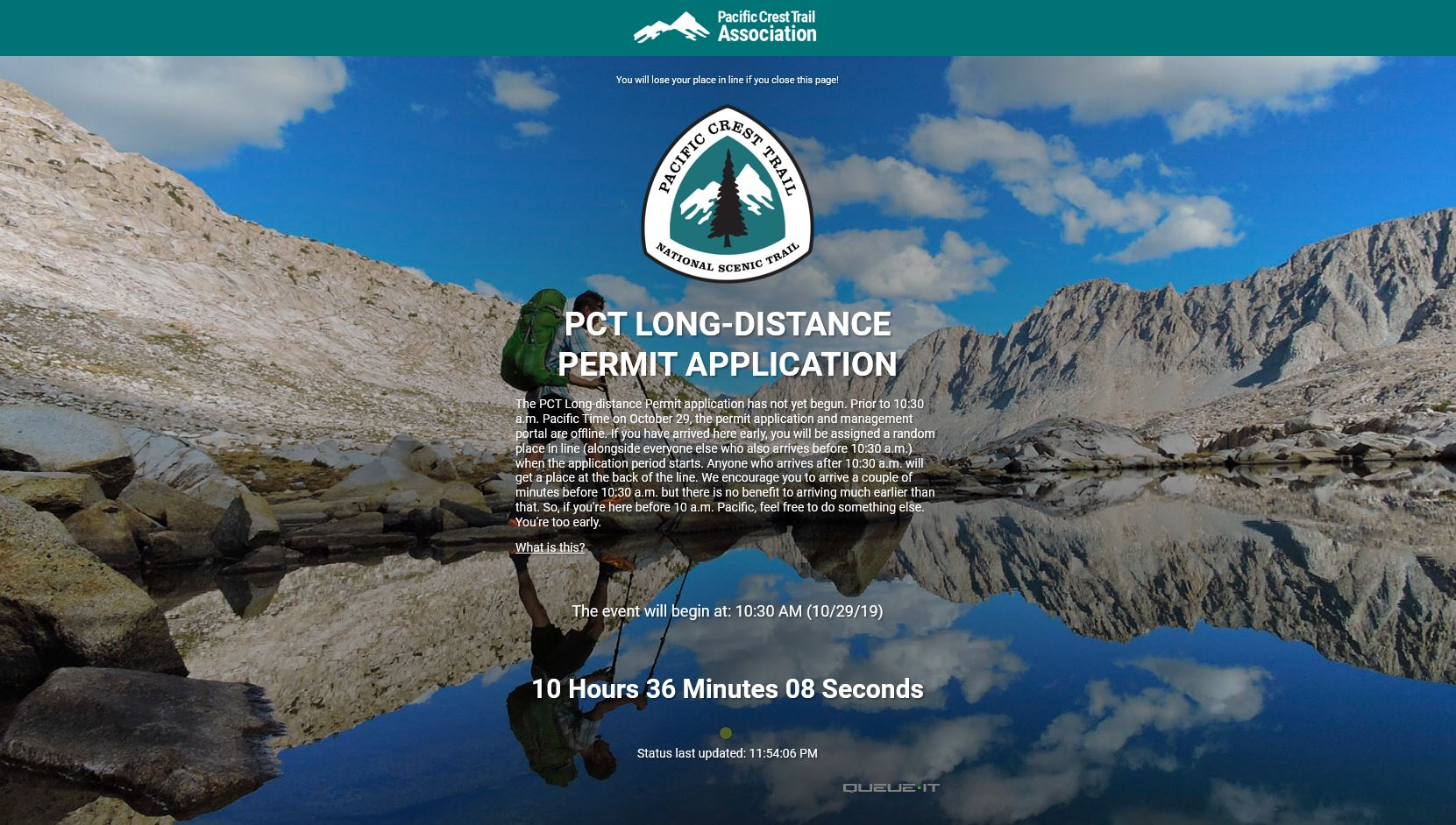 PCT Permit Application
