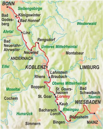Verlauf Rheinsteig